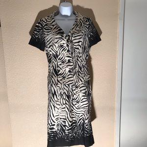 Rickie Freeman for Teri Jon Zebra print skirt set